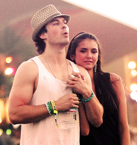 ian and nina holding hands