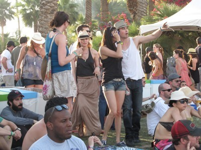 Damon&Elena and Ian&Nina wallpaper possibly containing a tepee, a circus tent, and a sign entitled nina+ian at the 2011 Coachella