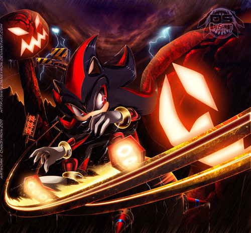 Shadow The Hedgehog kertas dinding called sky rail