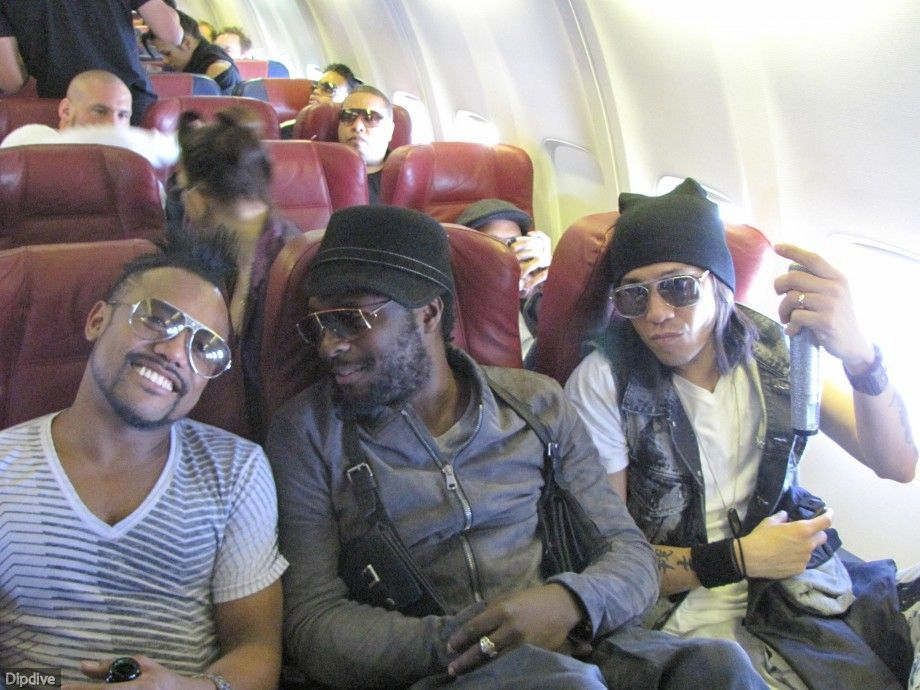 Apl.De.Ap. , Will.I.Am. and Taboo (The Black Eyed Peas) at plain