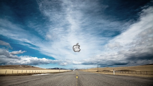 Apple wallpaper with a carriageway entitled Apple
