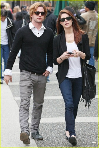 Jackson Rathbone wallpaper containing a business suit, a well dressed person, and a street entitled Ashley Greene and Jackson Rathbone in Vancouver(April 20)