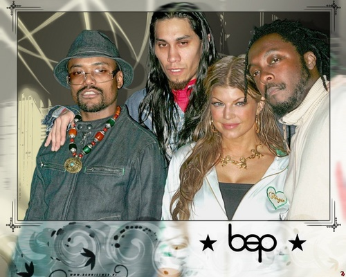 Black Eyed Peas Hintergrund containing a green baskenmütze called Black Eyed Peas - Hintergrund