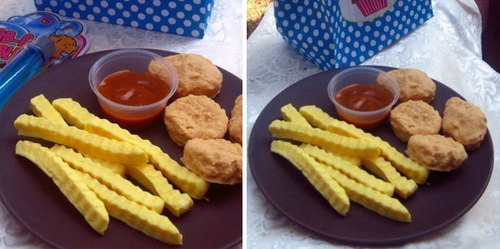 Chicken Nuggets with Fries Soap