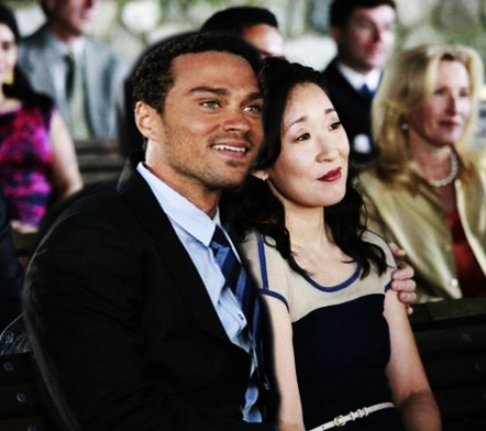 Cristina and Jackson on Calzona's wedding