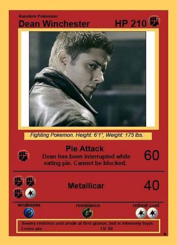 Dean's pokemon card