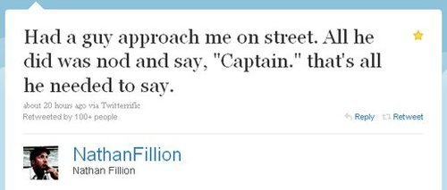 Dr. Horrible's Sing-A-Long Blog fondo de pantalla called Nathan Fillion twitter