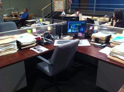Dr. Reid's scrivania, reception