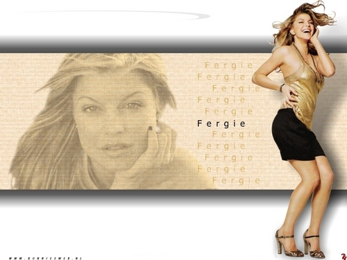 Black Eyed Peas Hintergrund containing a portrait entitled Fergie - Hintergrund