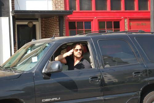 Jared driving on WB studio