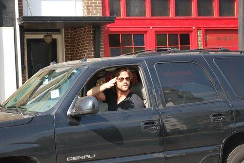 Jared driving on WB studio