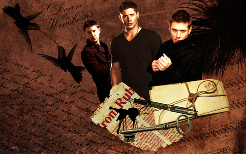 Jensen Ackles wallpaper probably with a sign entitled Jensen Ackles aka Dean Winchester