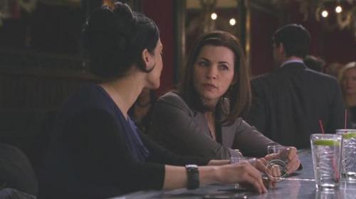 The Good Wife wallpaper with a brasserie titled Kalinda and Alicia