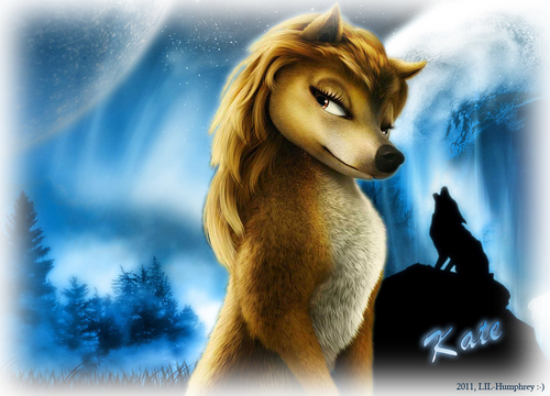 "Lilly from the movie ""Alpha and omega"" fond d'écran called Kate at the Moonlight Howl"