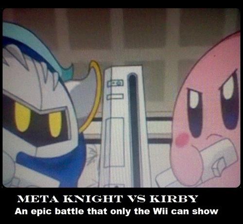 Kirby Vs. Metaknight... on the wii?