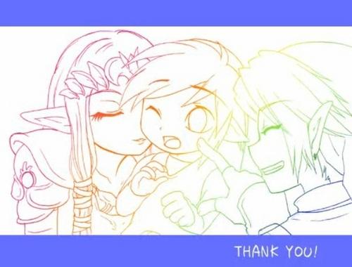 Link, Zelda and Toon Link