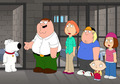 Lois,Peter,Meg,Stewie,Chris Meets Brian In Jail - brian-griffin screencap
