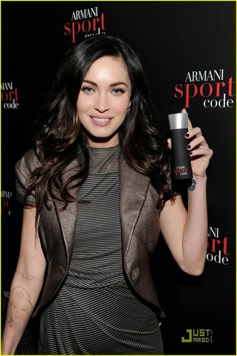 Megan @ Armani Code Sport Frangrance Launch