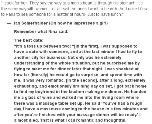 Nian telling about their perfect datesღ
