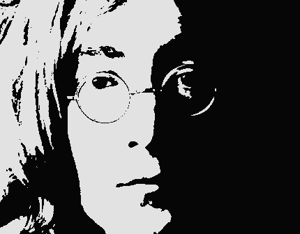 polyvore clippingg♥ wallpaper entitled Posterized John Lennon