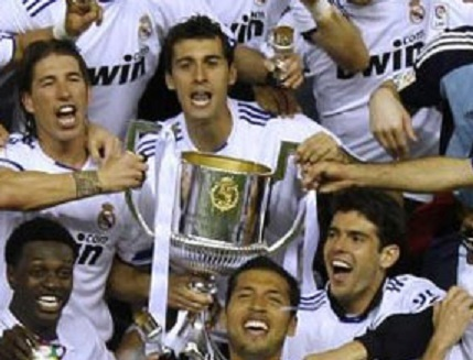 real madrid 2011 champions. Real Madrid is the champion of