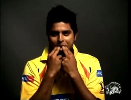 Suresh Raina whistling