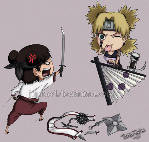 Tenten vs Temari rematch