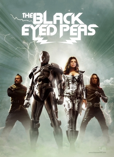 Black Eyes Peas hình nền possibly containing a đài phun nước and anime called The Black Eyed Peas - Poster