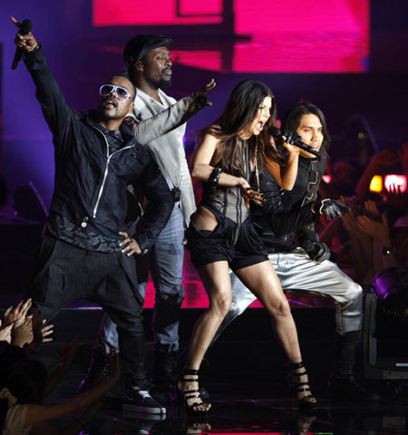 The Black Eyed Peas (Will.I.Am., Taboo, Fergie, Apl.De.Ap. ) - show, concerto 2009