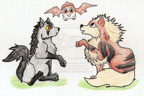 Two Pokemon One Digimon