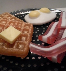 Waffles, Eggs, and spek Soap