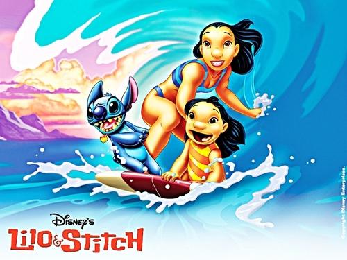 Walt Disney kertas-kertas dinding - Lilo & Stitch