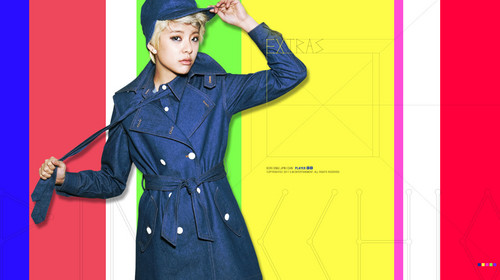 F(x) wallpaper with a trench coat titled amber