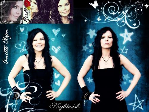 Nightwish wallpaper containing a cocktail dress titled anette