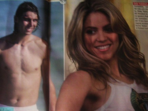 Rafael Nadal wallpaper containing a hunk and skin entitled body shakira nadal