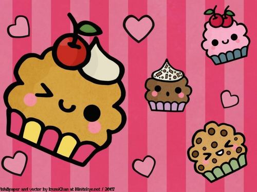 Cupcakes wallpaper probably with anime entitled cute!