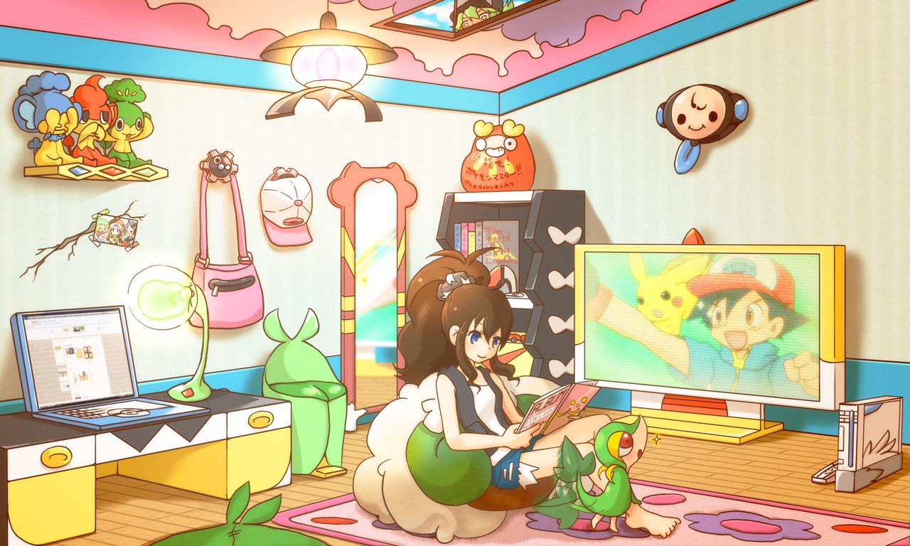 Fan art pok mon fan art 21297946 fanpop for My room wallpaper