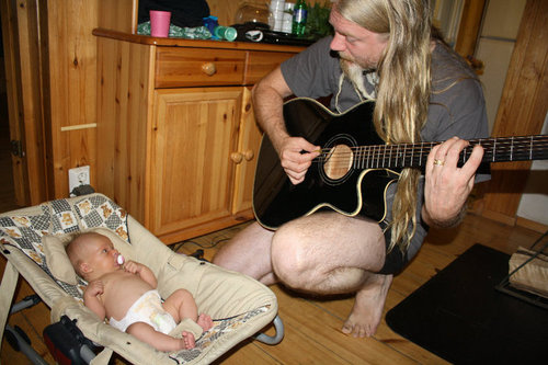 marco performing for jukka's new baby girl - nightwish Photo