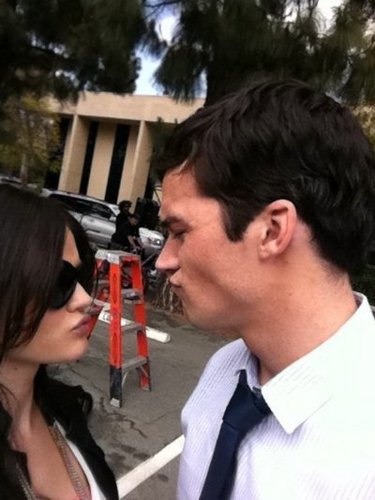 Ezra & Aria wallpaper possibly containing a business suit titled ian harding& lucy hale