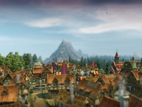 Anno 1404 wallpaper probably containing a resort, a villa, and a business district entitled postcart view