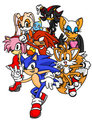 seven sonic buddies - sonic-and-friends photo