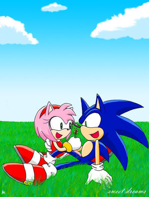 sonic and amy kiss