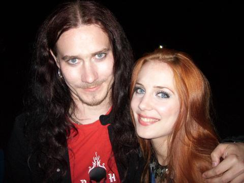 tuomas with simone simons