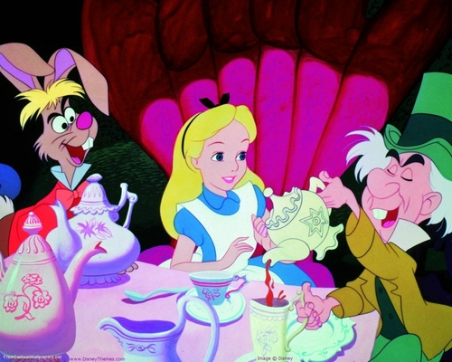 Alice in Wonderland wallpaper entitled unbirthday