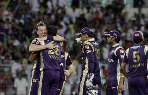 brett lee,kkr - ipl Photo