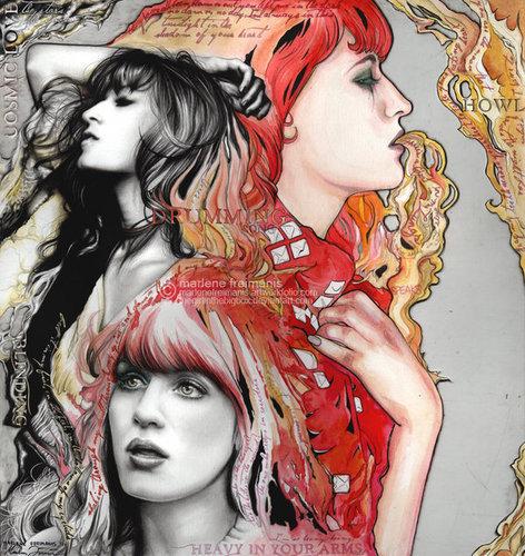 Florence + The Machine karatasi la kupamba ukuta possibly with anime called A Florence dream