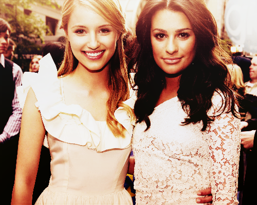 Lea Michele and Dianna Agron wallpaper with a bridesmaid entitled Achele. <3