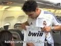 Birthday of the day, Kaka hunting autographs on the plane from Real Madrid