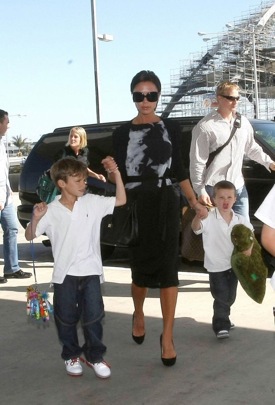 Beckham children Brooklyn, Romeo and Cruz