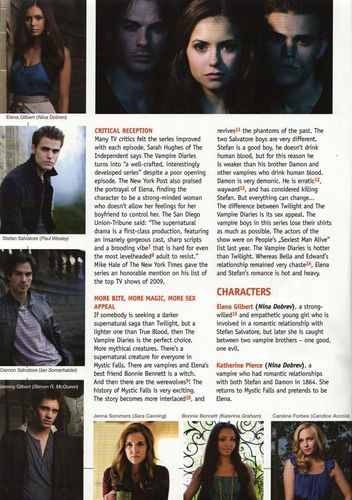 Candice [/Caroline] in 'Speak Up' Magazine - April 2010!
